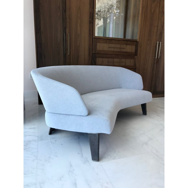 Minotti Creed Curved Lounge Sofa Designed by Minotti For Sale - Image 4 of 13