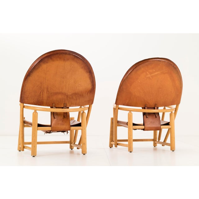 """Pair of Werther Toffoloni and Piero Palange """"Hoop"""" Lounge Chairs For Sale - Image 4 of 10"""