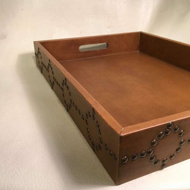 Animal Skin Studded Serving Tray For Sale - Image 7 of 8