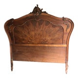 Image of Antique French Rococo Louis XVI Full/Queen Sized Bed Frame Headboard and Footboard. For Sale