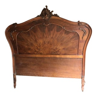 Antique French Rococo Louis XVI Full/Queen Sized Bed Frame Headboard and Footboard. For Sale