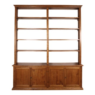20th C. Large Italian Open Bookcase For Sale