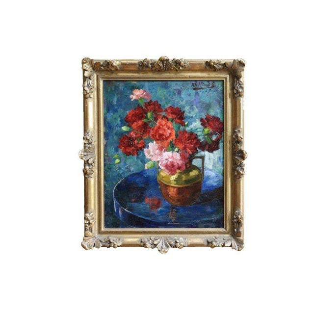 Late 19th Century Antique Gabrielle Millioud Melay Signed French Impressionist Oil Painting For Sale - Image 9 of 9