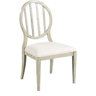 Woodbridge Emma Oval Slatted Side Dining Chair For Sale