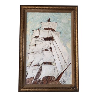 1960s Clipper Ship Painting For Sale