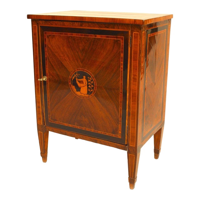 Turn of the 19th C. Italian Neoclassical Small Inlaid Commode For Sale