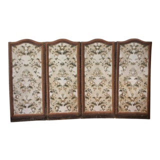 French 4 Panel Canvas Screen For Sale