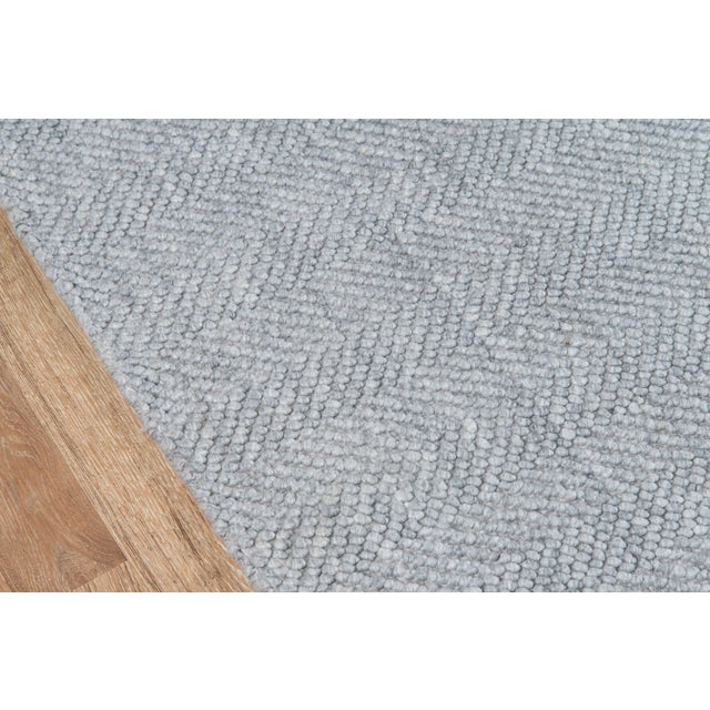 Contemporary Erin Gates by Momeni Ledgebrook Washington Grey Hand Woven Area Rug - 5′ × 8′ For Sale - Image 3 of 8