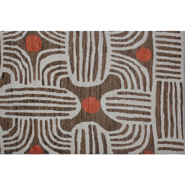 """Hand Knotted Ikat Rug - 9'11"""" X 8' - Image 5 of 5"""