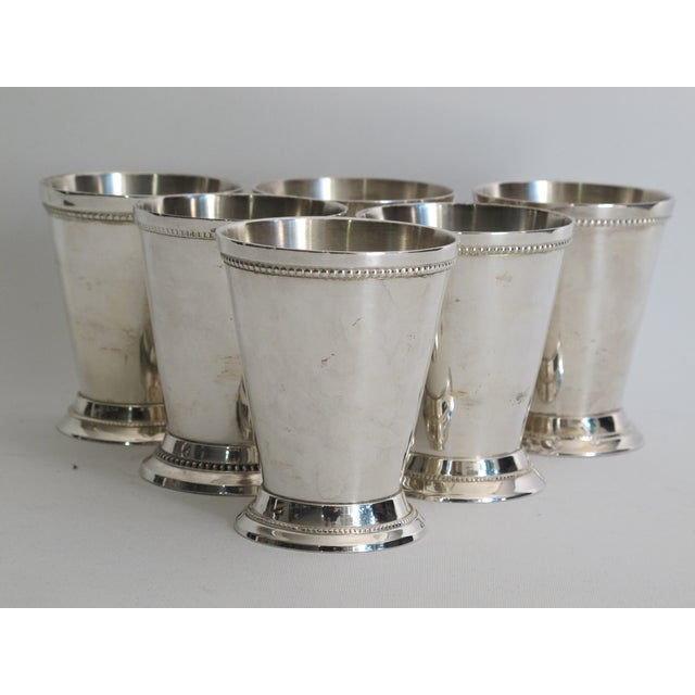 Silver-plated Julep Cups - S/6 - Image 2 of 6