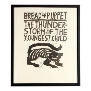 Vintage Framed Bread & Puppet Theater Poster Print For Sale