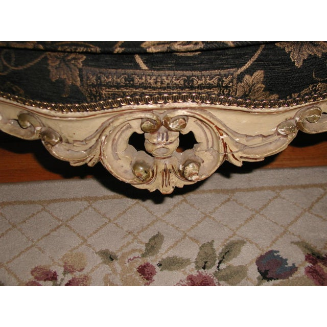 Gold 18th Century Art Nouveau Hand-Carved Arm Chairs - a Pair For Sale - Image 8 of 9