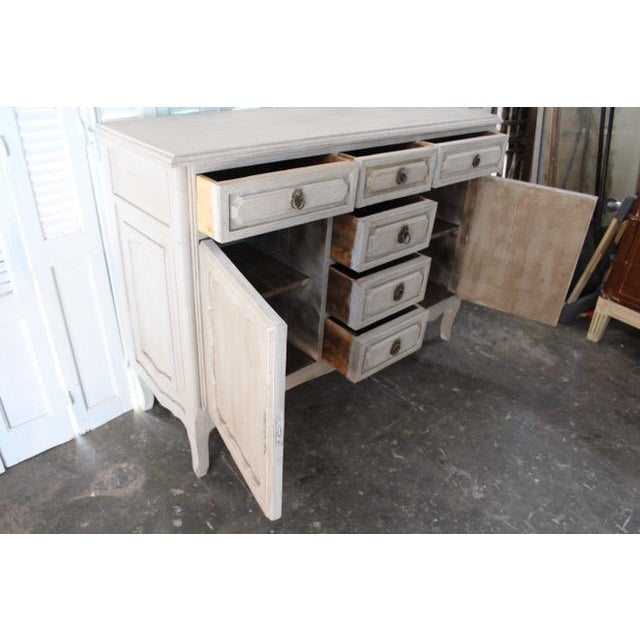 20th Century Shabby Chic French Style Painted Sideboard For Sale - Image 9 of 10