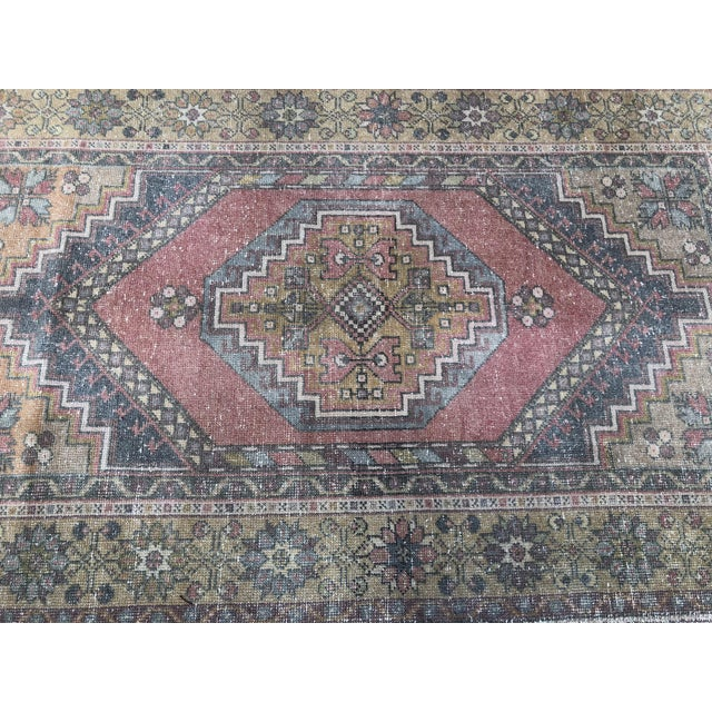 Handwoven Antique Turkish Wool Rug - 3′7″ × 5′11″ For Sale - Image 6 of 10