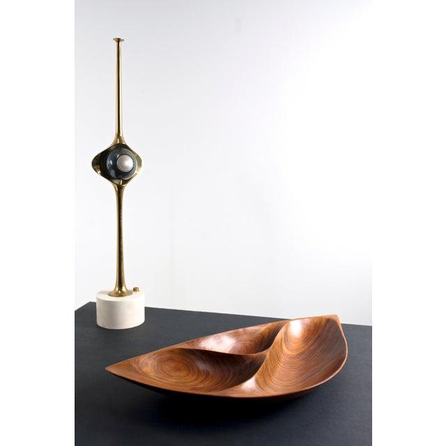 Angelo Lelli. Cobra lamp, model 12919. Arredoluce, Italy, 1964. Original unrestored condition. Brass, enameled aluminum,...