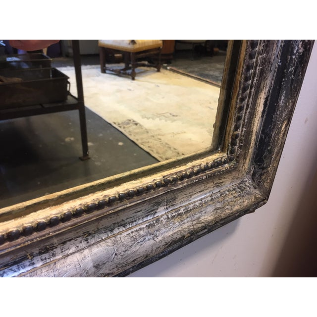 Late 19th Century Late 19th Century Silver Leaf Louis Philippe Mirror For Sale - Image 5 of 7