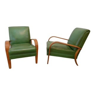 Mid-Century Modern Bentwood Club Chairs - a Pair For Sale