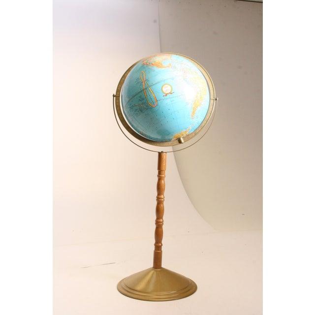 "VINTAGE WORLD GLOBE. 13"" diameter globe. ""Cram's Imperial"" Series. Globe is in great shape with original wood pedestal..."