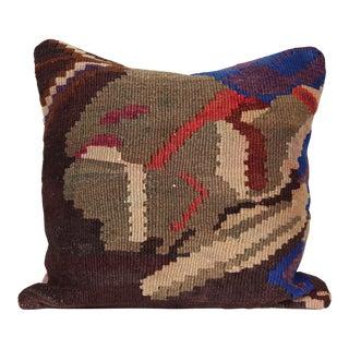 Vintage Turkish Kilim Decorative Handmade Pillow Cover For Sale