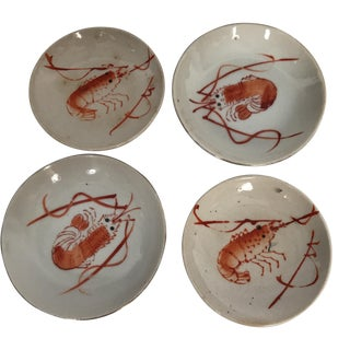 Japanese Porcelain Prawn Dishes - Set of 4
