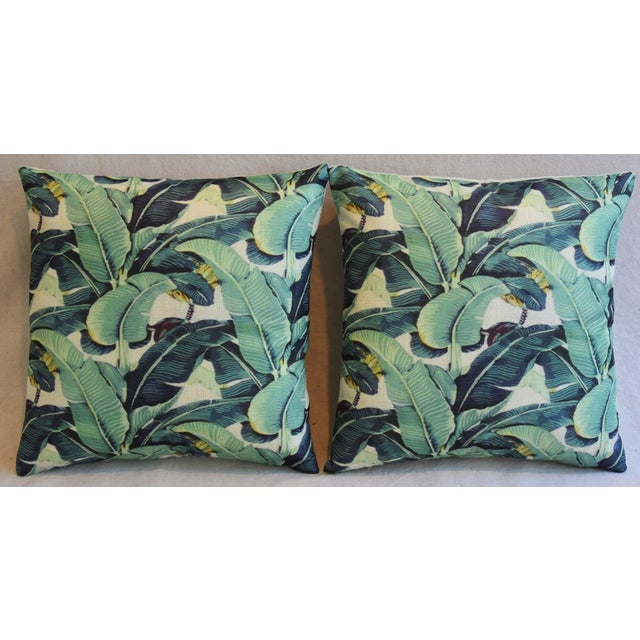 Banana Leaf Pillows - A Pair - Image 3 of 5