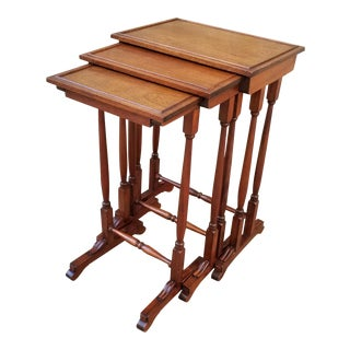 Antique English Mahagony Nesting Tables - Set of 3