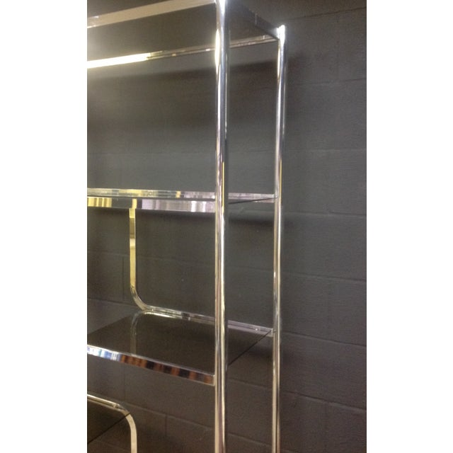 Chrome And Smoked Glass Etagere - Pair - Image 6 of 7
