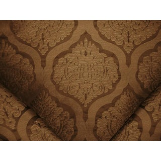 Traditional Lee Jofa Ashton Damask Cocoa Silk Damask Upholstery Fabric - 4-1/4y For Sale