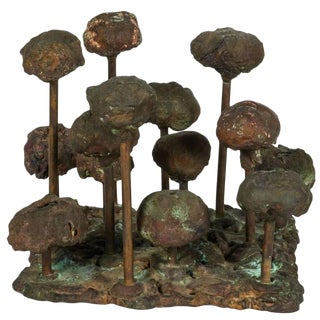 Harry Bertoia Bronze Melt-pressed Sculpture, Usa, 1960s For Sale