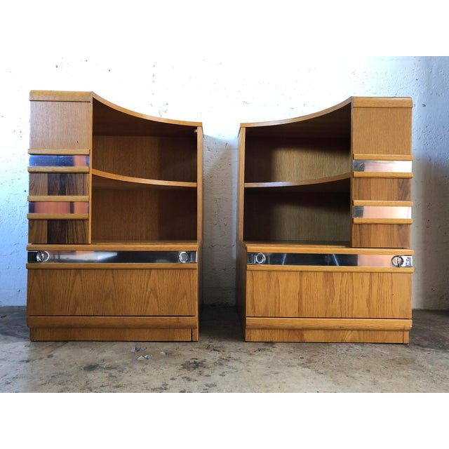 A Pair of Vintage Mid Century Modern Early 80's Nightstands For Sale - Image 12 of 12