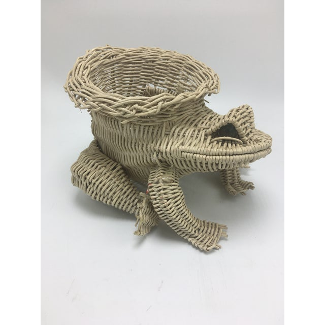 Wicker Vintage Wicker Frog Planter For Sale - Image 7 of 7