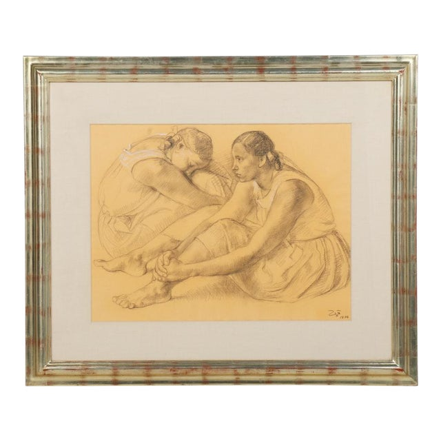 Zuñiga Charcoal Figure Drawing For Sale