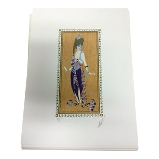 """Art Deco Modern Unframed Erté Hand Signed """"Thousand & One Nights"""" Lithograph For Sale"""