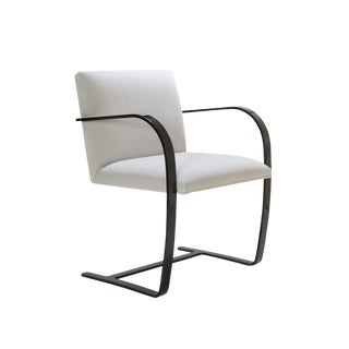 Brno Flat-Bar Chairs in Dove Velvet, Obsidian Gloss Frame For Sale