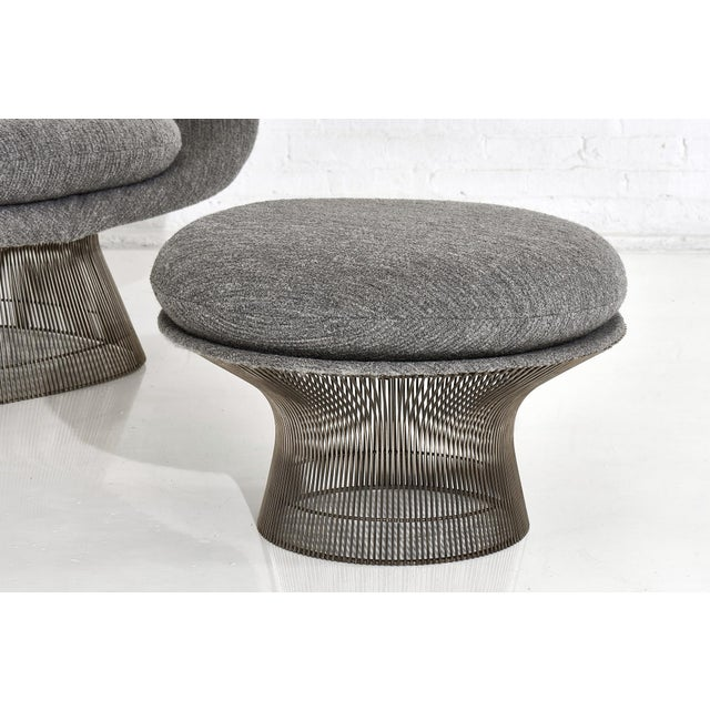 Mid-Century Modern Warren Platner for Knoll Lounge Chair With Ottoman For Sale - Image 3 of 11