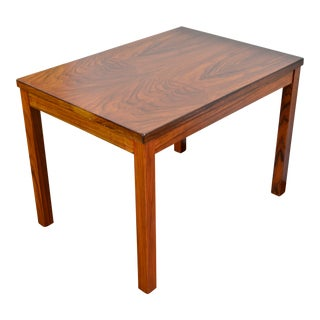 1960s Mid Century Modern Burl Walnut Side Table For Sale