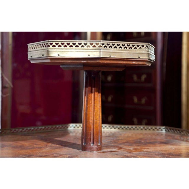 Jansen Mahogany Octagonal Two-Tier Table For Sale - Image 10 of 10