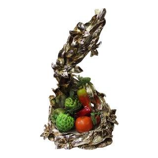 Light Gold Silver Color Fruits Display Floral Design Fiber Glass Plate Tray For Sale