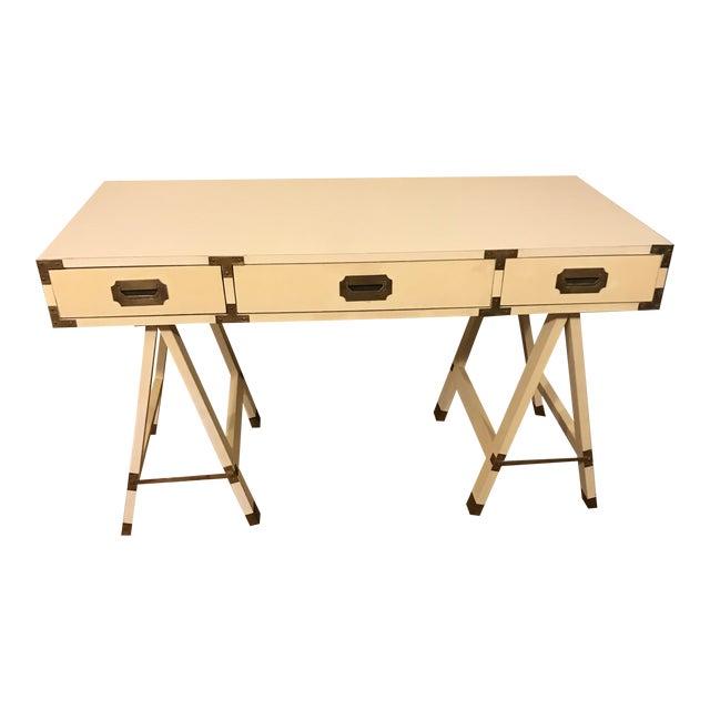 1970s Bernhardt Campaign Writing Desk For Sale