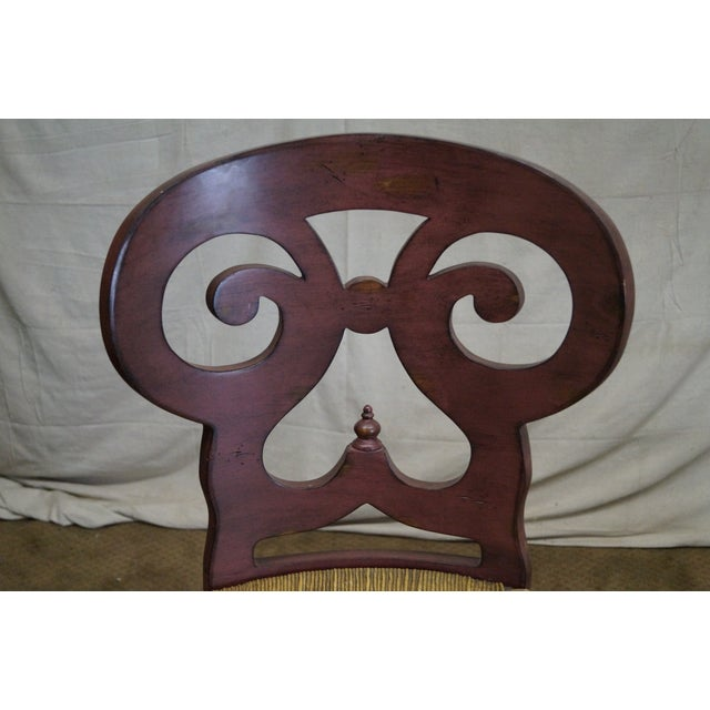 Biedermeier Style Counter Bar Stools - a Pair For Sale In Philadelphia - Image 6 of 10