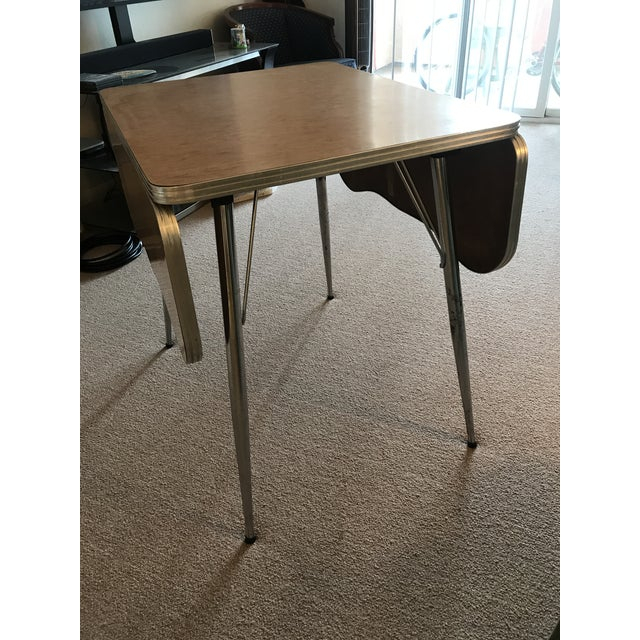 Chrome Trim Formica Table - Image 2 of 10