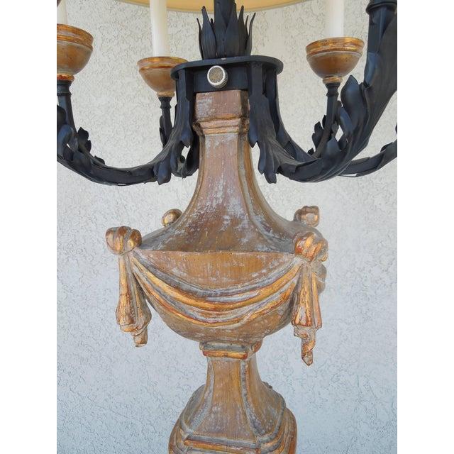 Traditional 1950s Marbro Regency Candelabra Lamp For Sale - Image 3 of 8