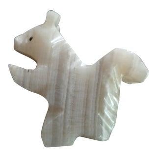 Vintage Agate Squirrel Figurine