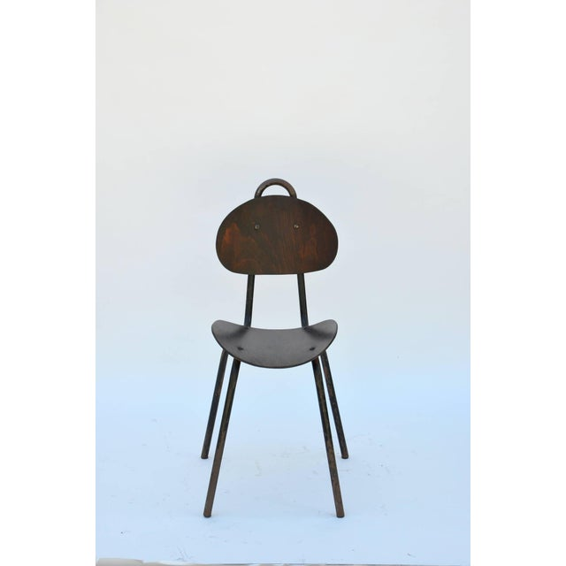 Pair of Unique French Industrial Bentwood Side Chairs For Sale - Image 4 of 10