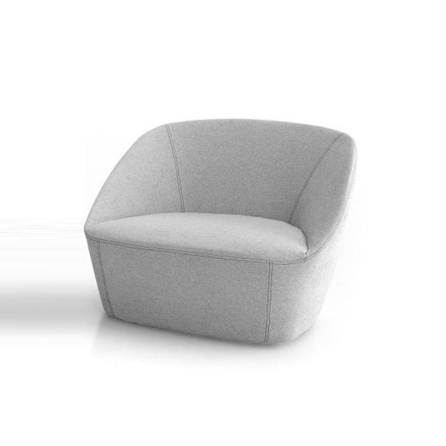 The armchair is made of polyurethane foam with a steel frame. A low density foam rubber insert makes the seat more...