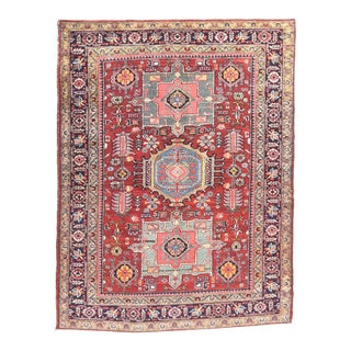 Antique Handmade Heriz Persian Rug For Sale