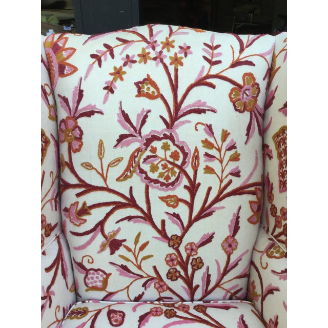 Vintage English Armchair W/Crewel For Sale - Image 9 of 10