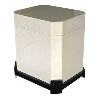 Faux Goatskin Box For Sale