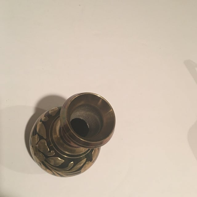 Polished Brass Vases - A Pair For Sale - Image 9 of 11
