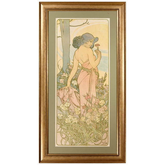 Late 19th Century Alphonse Mucha Carnation Art Nouveau Poster For Sale In Dallas - Image 6 of 6